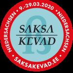 Saksa Kevad 2020 logo sinisel taustal